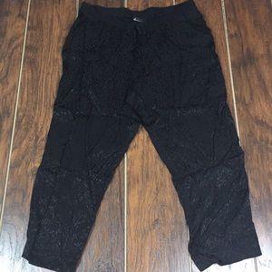 Lane Bryant Black 100% Rayon Pants Size 18/20